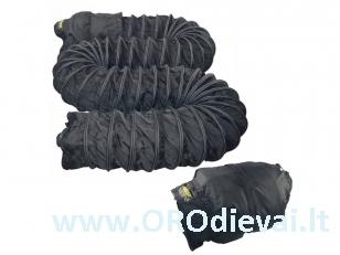 4 oro tiekimo angos nailoninės juodos su krepšiu 7,6 m MASTER 4 x Ø 23 cm