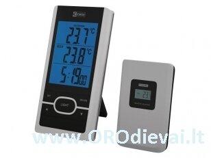 Bevielis skaitmeninis termometras su laikrodžiu EMOS E0107
