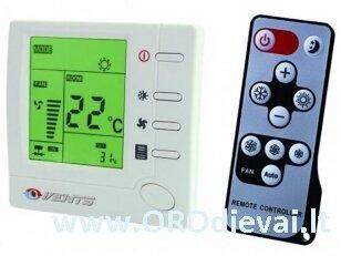 Daugiafunkcinis temperatūros valdiklis su nuotolinio valdymo pulteliu Vents RTSD-1-400 šildymo ir vėdinimo sistemoms