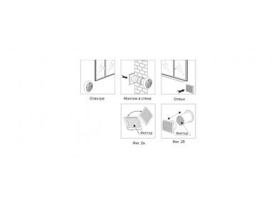 Mini rekuperatorius su šilumokaičiu  Eco-Fresh 07 2