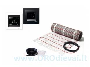 Elektrinis šildymo kilimėlis DEVIcomfort 150T (DTIR) + išmanus termostatas DEVIreg touch