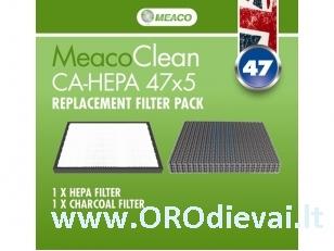 Filtrų komplektas modeliui CA-HEPA 47x5 (MEACO)