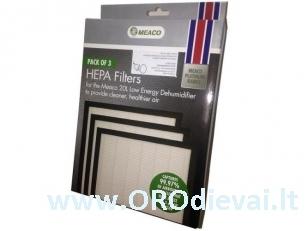 HEPA filtrų rinkinys Meaco oro sausintuvui 20L Platinum