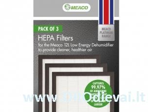 HEPA filtrų rinkinys oro sausintuvui 12L Platinum Meaco