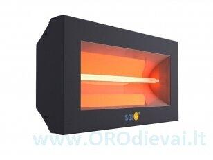 Infraraudonųjų spindulių šildytuvas SolBee SBH 15 B Dark Grey (1,5 kW, kontaktų dėžutė)