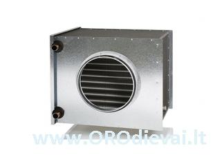 Kanalinis vandeninis oro pašildytuvas/vėsintuvas CWK 160-3-2.5, D=160 mm