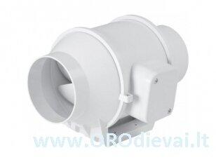 Kanalinis ventiliatorius DVPP100, Ø100 mm