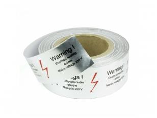 Lipni aliuminio juosta šildymo kabeliams