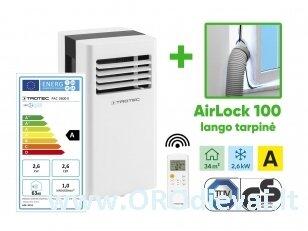 Mobilus oro kondicionierius Trotec PAC 2600 X ir lango tarpinė Trotec AirLock 100