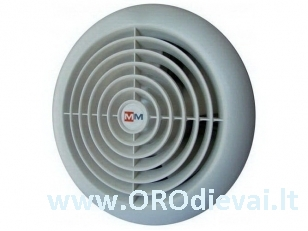 Tylus MMotors ventiliatorius su guoliais MM 100/60 apvalus be laikmačio