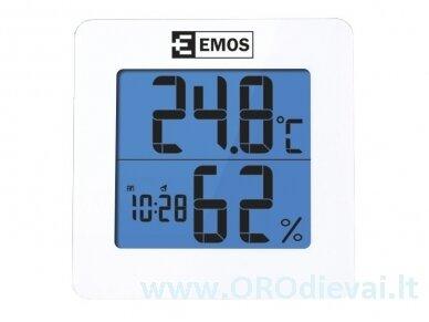 Skaitmeninis temperatūros ir drėgmės matuoklis EMOS E0114 2