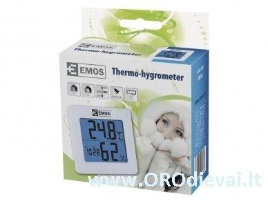 Skaitmeninis temperatūros ir drėgmės matuoklis EMOS E0114 3