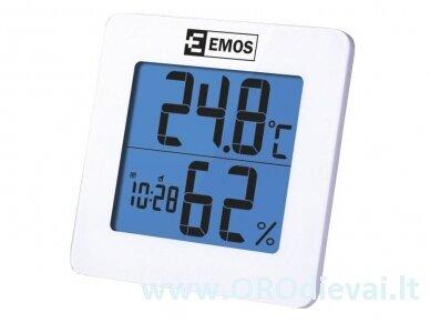 Skaitmeninis temperatūros ir drėgmės matuoklis EMOS E0114