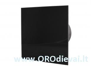 Tylus stiklinis MMotors guolinis ventiliatorius MMP06C serijos (LED) juodas