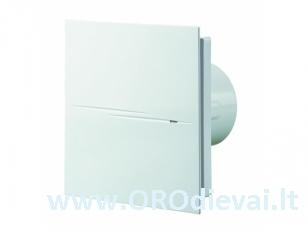 Vonios ventiliatorius Quiet Style100TH su drėgmės matuokliu, laikmačiu, atbuliniu vožtuvu