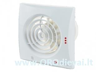 Vonios ventiliatorius Quiet100TH su drėgmės matuokliu, laikmačiu, atbuliniu vožtuvu